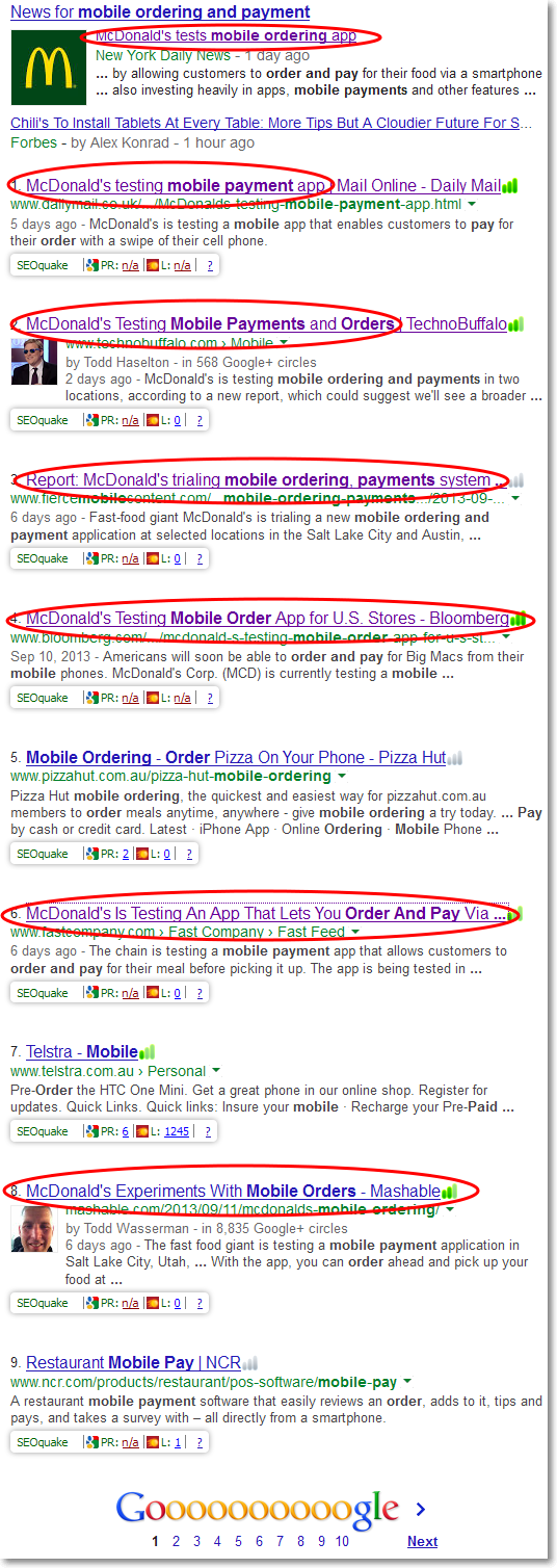 Mcdonalds number one on search for mobile ordering and payment